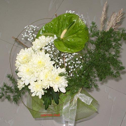 Букет с хризантема - Азия