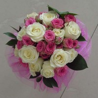Булчински букет с рози - Нежност